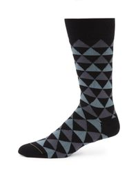 Paul Smith - Black Tri Striped Socks for Men - Lyst