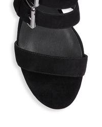 Rebecca Minkoff | Black Ilana Kid Leather Sandals | Lyst