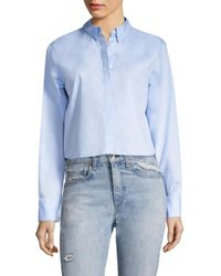 Rag & Bone - Blue Calder Reversible Cotton Poplin Shirt - Lyst