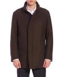 Sanyo - Green Water-repellent Wool Coat for Men - Lyst