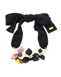 Marni - Multicolor Adjustable Leather Necklace - Lyst