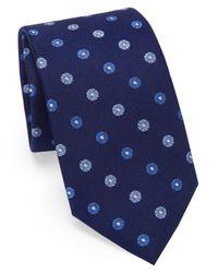 Saks Fifth Avenue - Blue Medallion Silk Tie for Men - Lyst