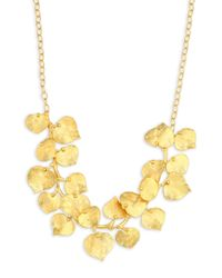 Kenneth Jay Lane   Metallic Branch And Leaf Necklace   Lyst
