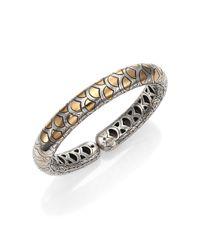John Hardy - Metallic Naga 18k Yellow Gold & Sterling Silver Slim Flex Cuff Bracelet - Lyst