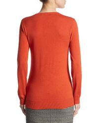 Weekend by Maxmara - Red Rib Knitted Sweater - Lyst
