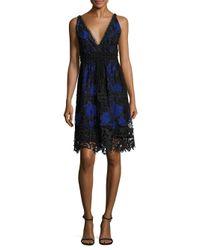 Elie Tahari | Blue Malina Sleeveless Dress | Lyst