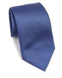 Armani - Blue Fleck Print Silk Tie for Men - Lyst