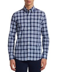 Ralph Lauren Purple Label - Blue Purple Label Cameron Tartan Button-down Shirt for Men - Lyst