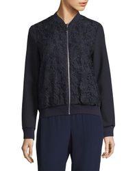 ESCADA - Blue Bencaje Zip-front Jacket - Lyst
