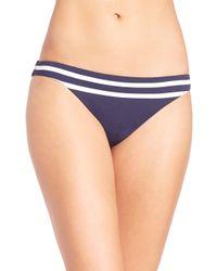 Shoshanna   Blue Striped Jersey Classic Bikini Bottom   Lyst