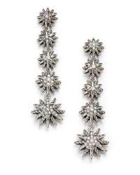 David Yurman - Metallic Starburst Drop Earrings With Diamonds - Lyst