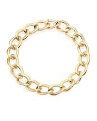Roberto Coin | Metallic 18k Yellow Gold Chain Link Necklace | Lyst