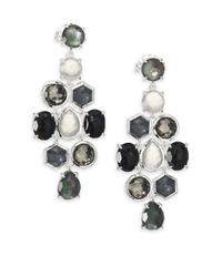 Ippolita - Metallic Rock Candy Black Tie Semi-precious Multi-stone & Sterling Silver Cascade Chandelier Earrings - Lyst