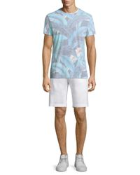 Sol Angeles - Blue Lanai Leaf Crewneck Tee for Men - Lyst