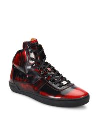 Bally | Multicolor Eroy Shiny Fume Leather Sneakers for Men | Lyst