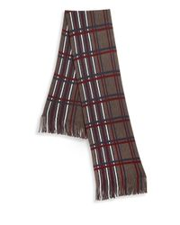 Saks Fifth Avenue - Gray Modern Plaid Scarf for Men - Lyst