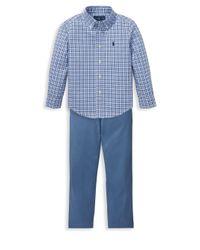 Ralph Lauren - Blue Boy's Belted Chinos for Men - Lyst