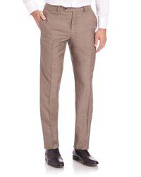 Saks Fifth Avenue - Natural Straight-leg Pants for Men - Lyst
