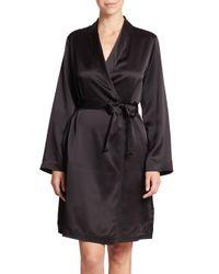 La Perla - Black Silk Robe - Lyst