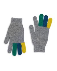 Paul Smith - Gray Rib-knit Gloves - Lyst