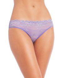 Wacoal - Blue Embrace Lace Bikini - Lyst