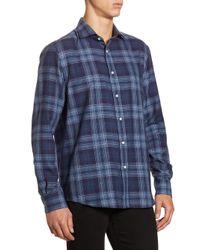 Ralph Lauren Purple Label - Blue Purple Label Aston Slim-fit Tonal Plaid Button-down Shirt for Men - Lyst