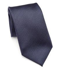 Pal Zileri - Blue Geometric Silk Tie for Men - Lyst