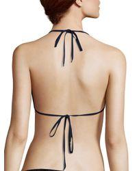 Jonathan Simkhai - Black Oxford Triangle Bikini Top - Lyst
