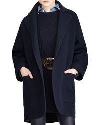 Polo Ralph Lauren - Blue Madison Double-face Wool Coat - Lyst