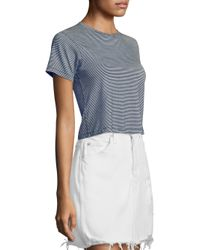 AMO - Blue Babe Cotton Striped Tee - Lyst