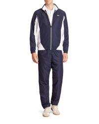 Lacoste - Blue Sport Colorblocked Taffeta Track Suit for Men - Lyst