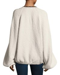 Free People - White Two-faced Cotton Jacket - Lyst