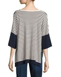 Weekend by Maxmara - Black Coccole Striped Sweater - Lyst