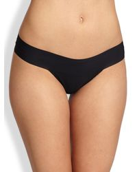 Hanky Panky - Black Bare Eve Natural-rise Thong - Lyst