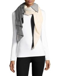 Donni Charm - Gray Thermal Quad Colorblock Scarf - Lyst