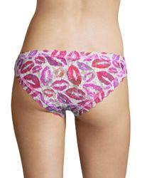 Hanky Panky - Pink Love And Kisses Lace Bikini Bottom - Lyst