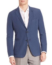 Saks Fifth Avenue - Blue Seersucker Sportcoat for Men - Lyst