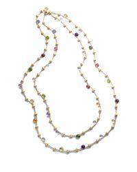 Marco Bicego - Siviglia 18K Multicolor Sapphire Station Necklace - Lyst