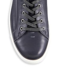 Gianvito Rossi - Gray Leather High-top Sneakers for Men - Lyst