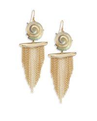 Alexis Bittar - Metallic Lucite Shell Tassel Earrings - Lyst