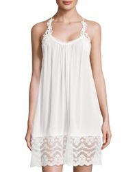In Bloom - White Kiss The Sky Lace Lace Trim Chemise - Lyst