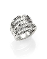 John Hardy - Metallic Bamboo Sterling Silver Wide Ring - Lyst