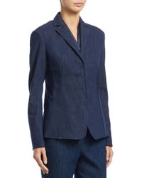 Akris - Blue Odeon Cotton Denim Jacket - Lyst