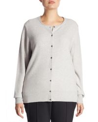 Saks Fifth Avenue - Gray Collection Cashmere Knitted Sweater - Lyst