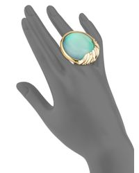 Alexis Bittar - Multicolor Lucite Crystal-studded Sculptural Sphere Cocktail Ring - Lyst