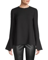 Lafayette 148 New York - Black Jasmia Silk Blouse - Lyst