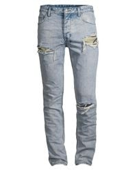 Ksubi Blue Chitch Exposed Camo Jeans for men