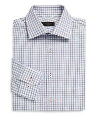 Ike Behar - Purple Regular-fit Tattersall Cotton Dress Shirt for Men - Lyst