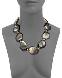 Nest - Gray Faceted Horn Collar Necklace - Lyst