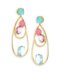 Ippolita - Metallic 18k Rock Candy Semi-precious Multi-stone Drop Dangle Earrings - Lyst